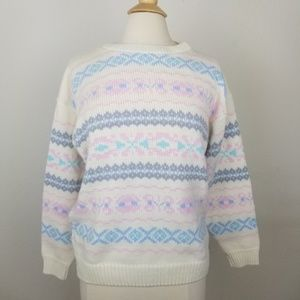 80's Vintage Pastel Alicia Oversized Knit Sweater